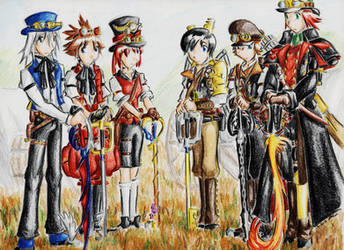 The Steampunk Wars_ Key Bearers at the Ready by LordCavendish