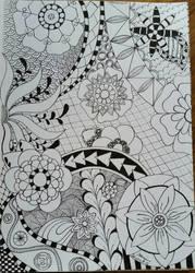 Flower Zentangle  by CrazieCathie