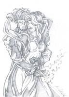 Gambit + Rogue by Kevman87