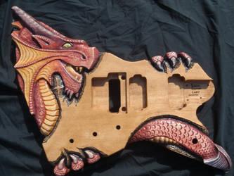 Dragon Guitar Body by jendawn77