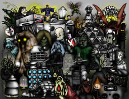 Doctor Who Creatures Part 1: The 1960s by ApocalypseCartoons