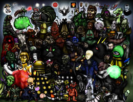 Every Doctor Who Creature - Part 2 - The 1970s by ApocalypseCartoons