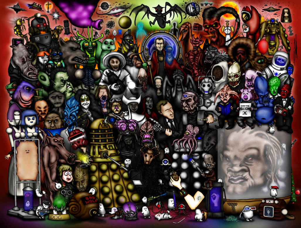 Every Doctor Who Creature - Part 4 - The RTD Era by ApocalypseCartoons
