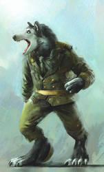 Red Army Werewolf Sketch by ISignRob