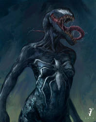 Girl with a touch of Venom by ISignRob