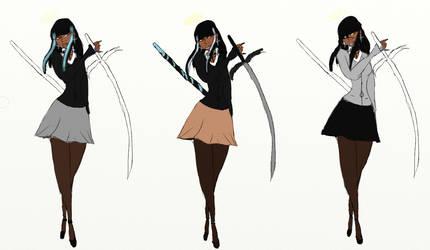 Demon Hunter Kayla by RavenLacrimosa