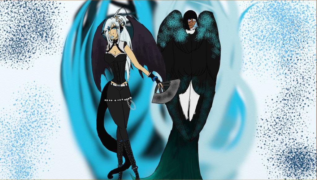 Sinery And Kyla- Blue Beauties by RavenLacrimosa