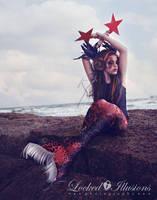 Goth Mermaid by LockedIllusions