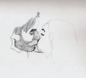 Damon and elena kiss W.I.P by edward1307