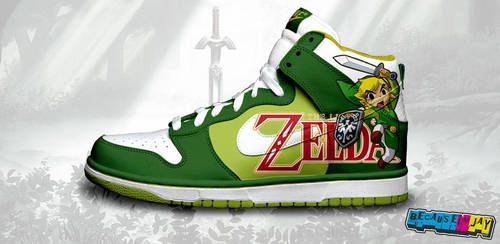 Legend of Zelda Nike Dunks by becauseimjay