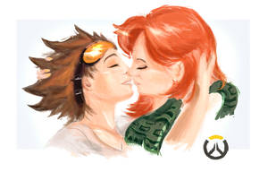 Overwatch Tracer and her friend unfinished by Celtycki