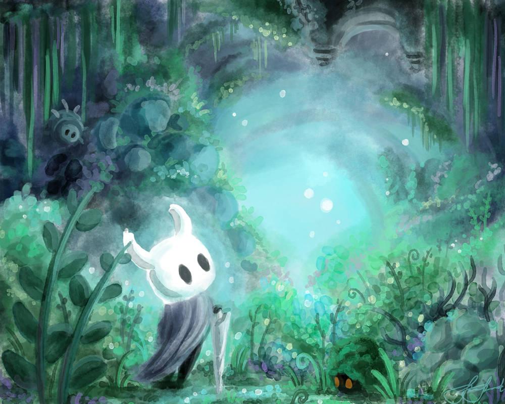 Hollow Knight Greenpath by Viking011