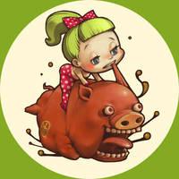Delicious pig Yo by tsutsu-di