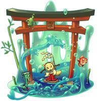Water thief MEGITSUNE by tsutsu-di