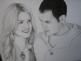 Rosalie and Emmett by poppemieke