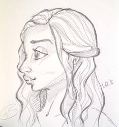 Daenerys cartoon sketch by Schunki