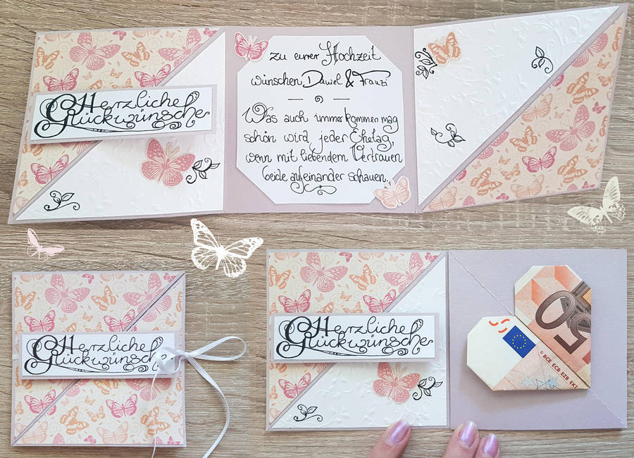 Trifold wedding card by Schunki