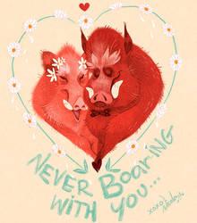 Happy Valenswines Day! by Fairygodflea