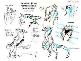 Tentative direct representative 'sona design by Dracogriff-art