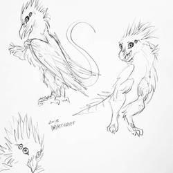 bird / raptor / sona by Dracogriff-art