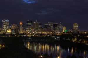 Edmonton Skyline at Night 1 by schon