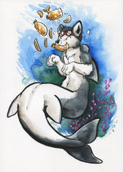 Commission- Fish and chips by Cervelet