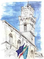 Pienza Town Hall by StrangeImpression