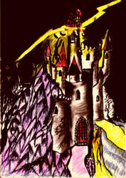 Atu XVI - The Tower by Frabato11