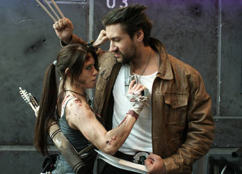 Lara Croft - Tomb Raider 2013 - Lara vs. Wolverine by ImeldaCroft