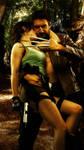 Lara Croft and Wolverine - In love by ImeldaCroft