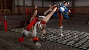 Chun-Li vs Mai Shiranui by Pervik