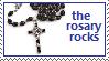 Rosary Stamp by mackwrites
