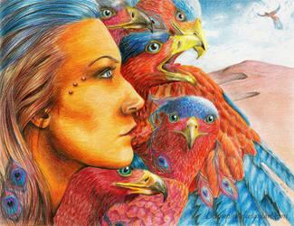Birds of Fire by Liennepien