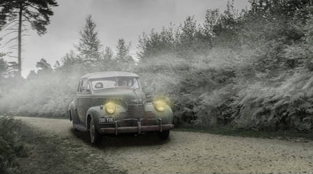 Driving Through A Misty Woods by petrolheadgman