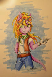 First marker drawing by Jazzerix