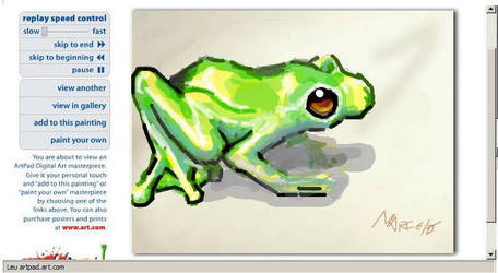 Frog in the artpad by m4rc3lo0o