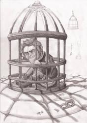 Rumpel in a Cage by Pimander1446