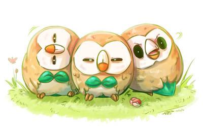 Mokuroh/Rowlet - The Buttler Pokemon by Pimander1446