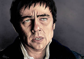 Benicio Del Toro by Elysiann