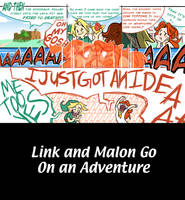 Link and Malon Go On an Adventure 1 by KristaDLee