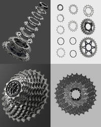 HG Cassette Sprocket: Shimano Dura-Ace CS-R9100 (1 by cyanide227