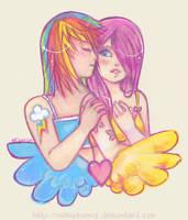 Rainbows and Butterflies by nekophoenix
