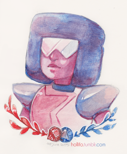 I didn't have any Steven Universe fanart; decided to rectify this She's my favourite, can you tell? Pencil, watercolour, white gel pen