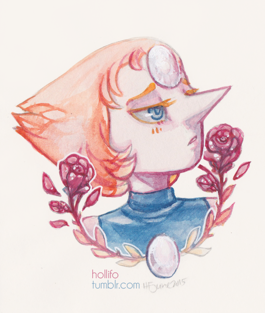 I didn't have any Steven Universe fanart; decided to rectify this I originally left out Pearl but then I felt bad so I had to paint her up too  Pencil, watercolour, white gel pen