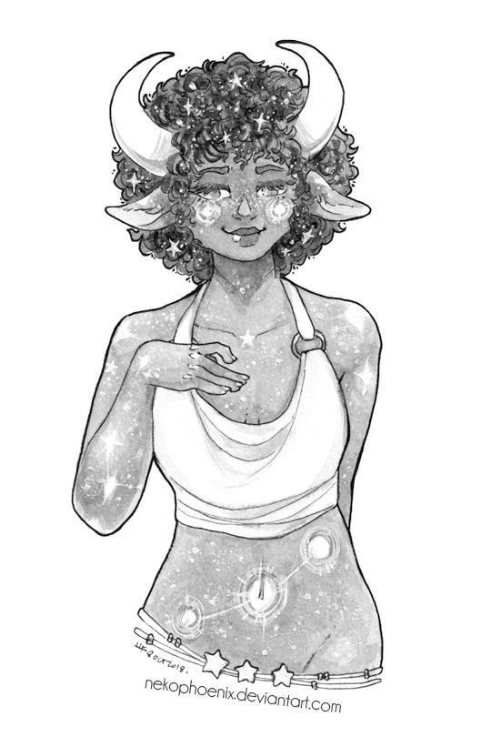 Cosmic Girl by nekophoenix