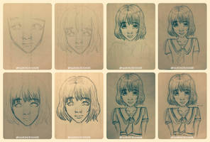 Traditional Art (Step by Step) by HarkinDeximire
