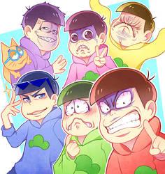 6 SAME FACES ? by miimiiakatsuki