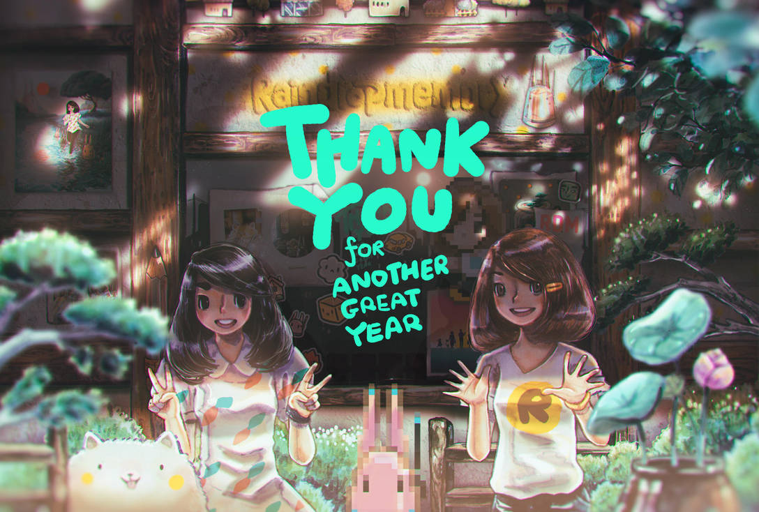 Thank you for Another Great Year by Raindropmemory