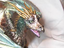 ooak dragon detail by AmandaKathryn