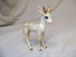 'Winter' ooak reindeer by AmandaKathryn